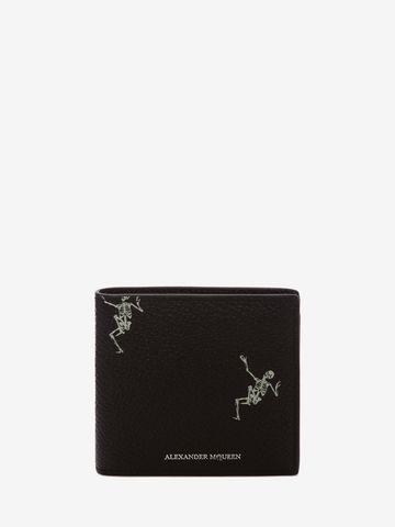 Dancing Skeleton pouch - Black Alexander McQueen 50oLckm