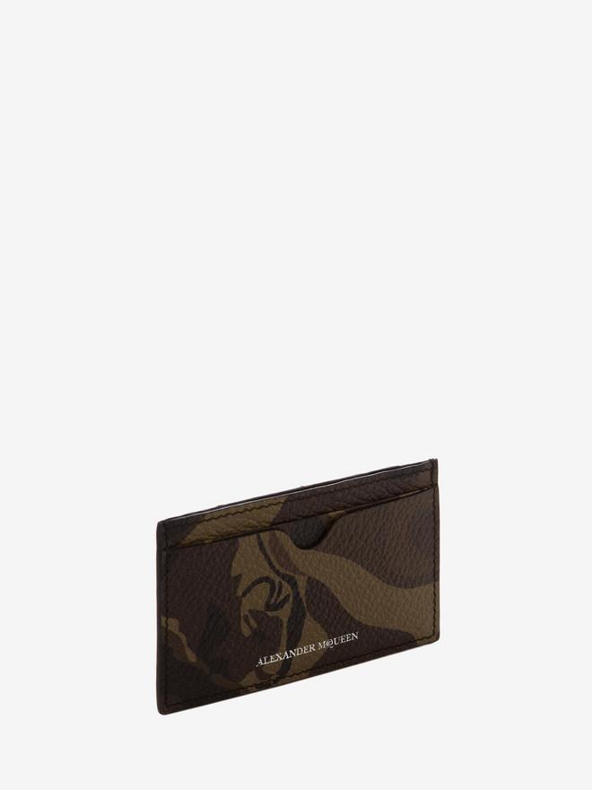 ALEXANDER MCQUEEN Camouflage Leather Card Holder Card Holder Man r