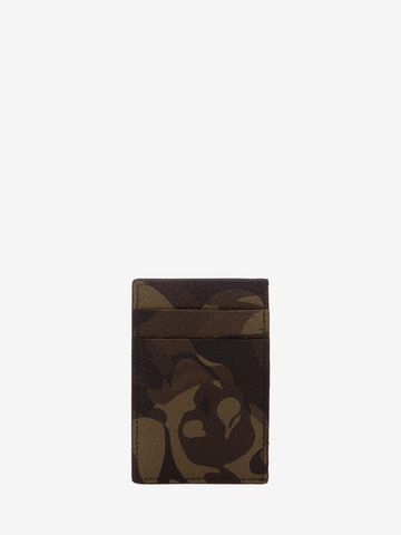 ALEXANDER MCQUEEN Camouflage Leather Card Holder Card Holder Man d