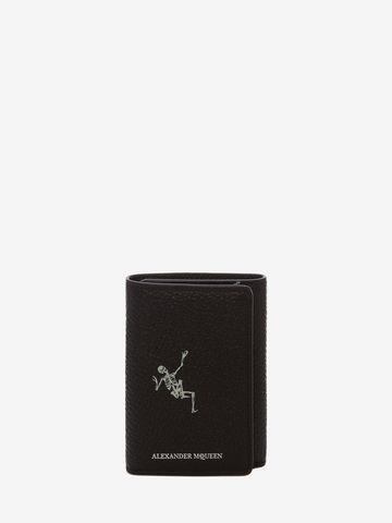 "ALEXANDER MCQUEEN ""Dancing Skeleton"" Trifold Card Holder TRIFOLD CARD HOLDER Man f"