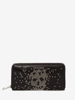 Studded Zip Travel Wallet