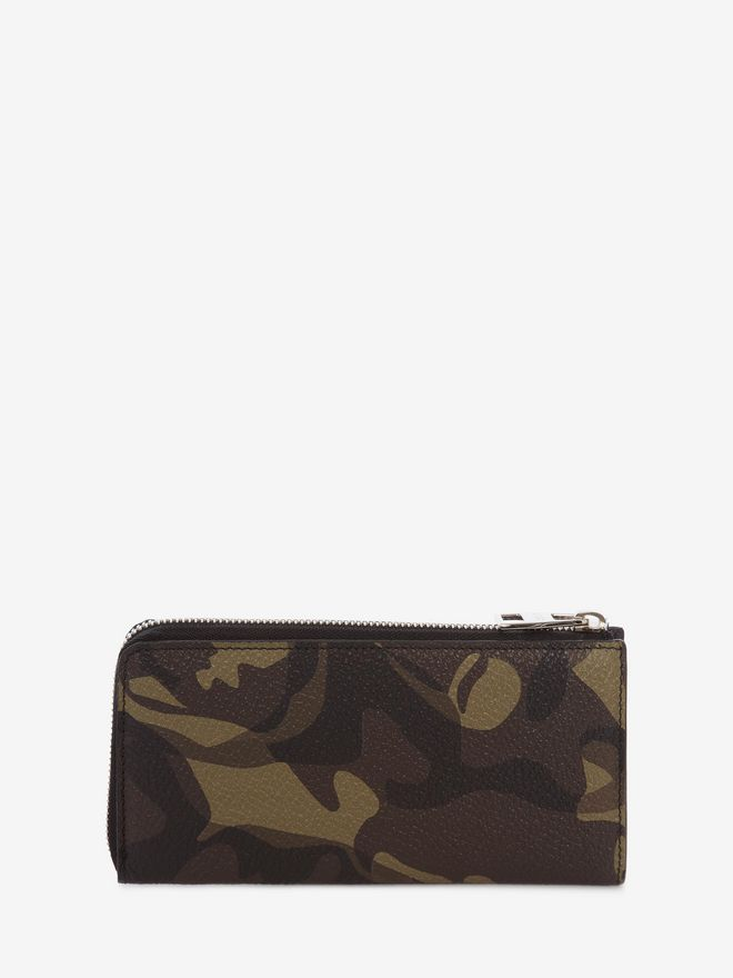 ALEXANDER MCQUEEN Camouflage Zip-Around Continental Wallet ZIP AROUND WALLET Man d