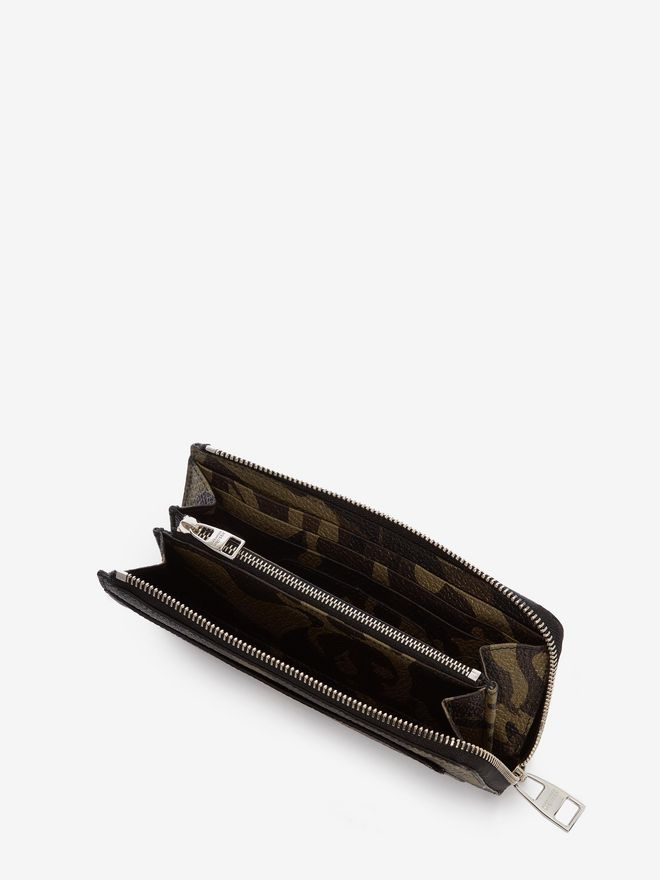 ALEXANDER MCQUEEN Camouflage Zip-Around Continental Wallet ZIP AROUND WALLET Man e