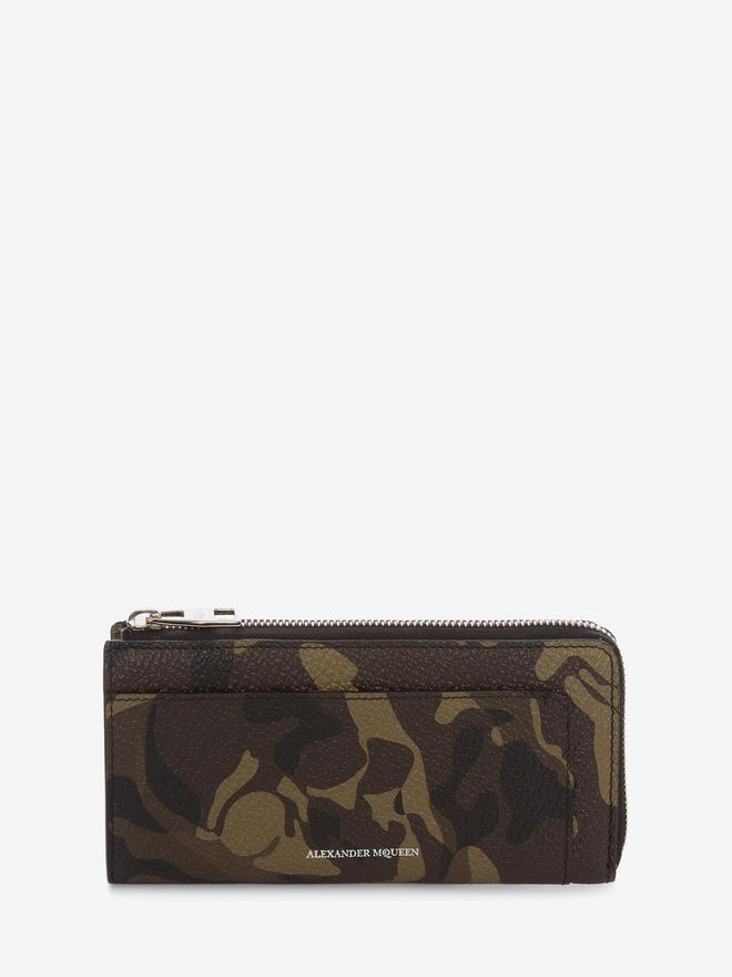 ALEXANDER MCQUEEN Camouflage Zip-Around Continental Wallet ZIP AROUND WALLET Man f