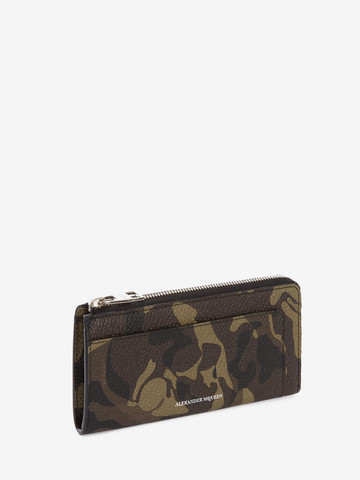 ALEXANDER MCQUEEN Camouflage Zip-Around Continental Wallet ZIP AROUND WALLET Man r