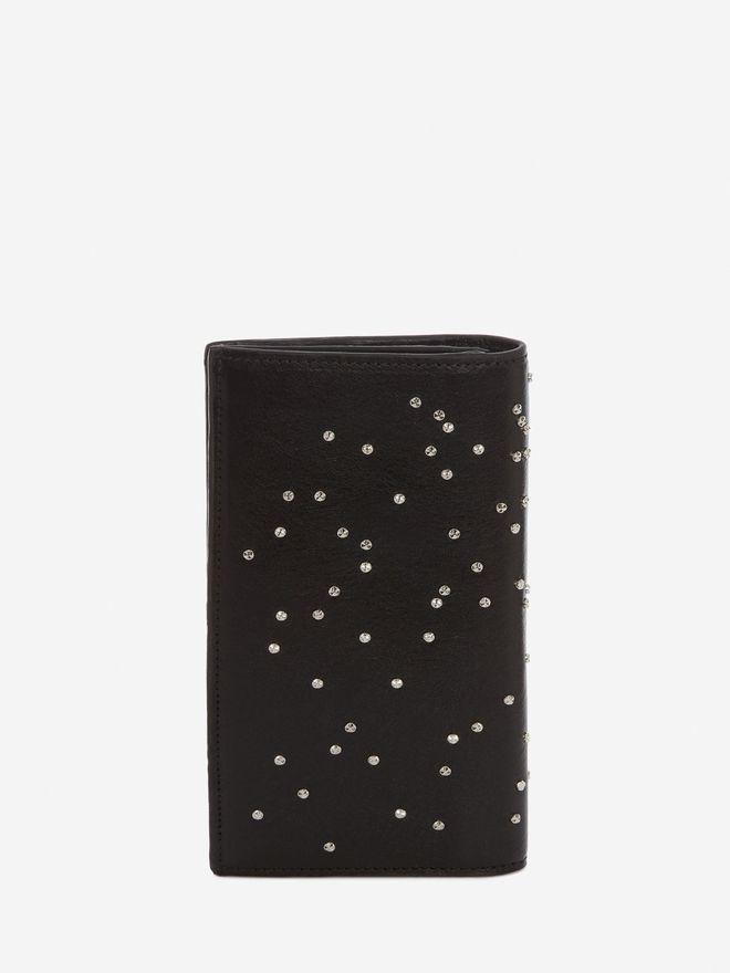 ALEXANDER MCQUEEN Studded Leather Folded Long Wallet FOLDED LONG WALLET Man d