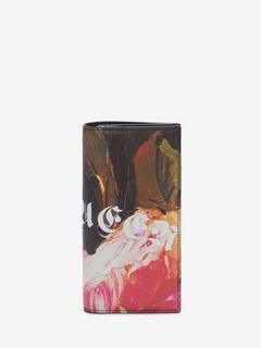 Portefeuille long et repliable Painted Rose