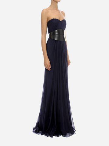 ALEXANDER MCQUEEN Draped Bustier Long Dress Long Dress D d