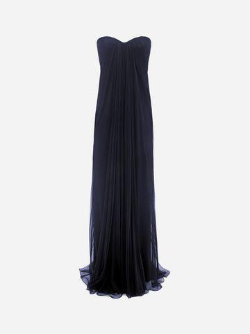 ALEXANDER MCQUEEN Draped Bustier Long Dress Long Dress D f