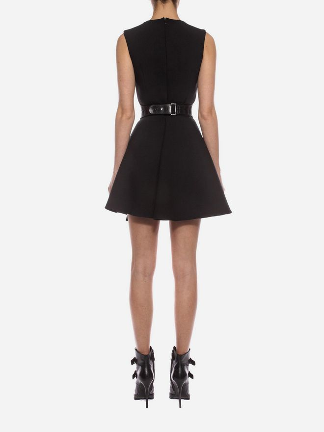 ALEXANDER MCQUEEN Folded Drape Mini Dress Mini Dress D e