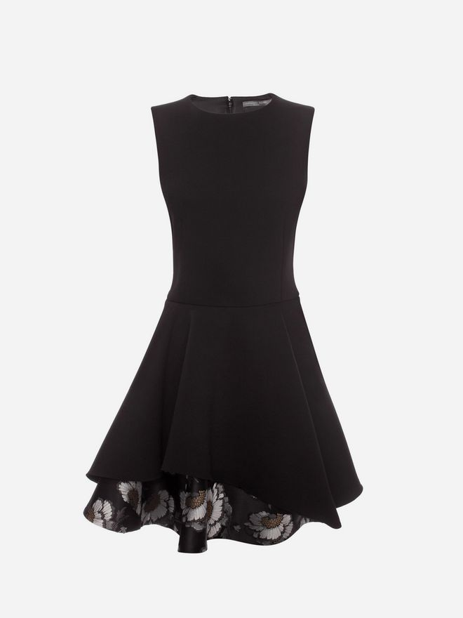 ALEXANDER MCQUEEN Folded Drape Mini Dress Mini Dress D f