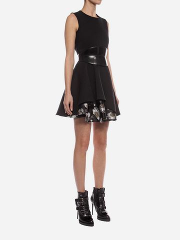 ALEXANDER MCQUEEN Folded Drape Mini Dress Mini Dress D d
