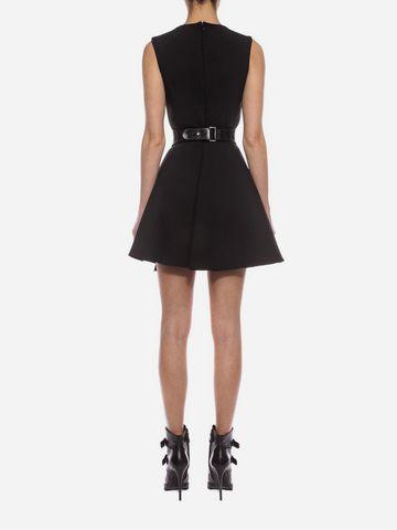 ALEXANDER MCQUEEN Folded Drape Mini Dress Mini Dress D e