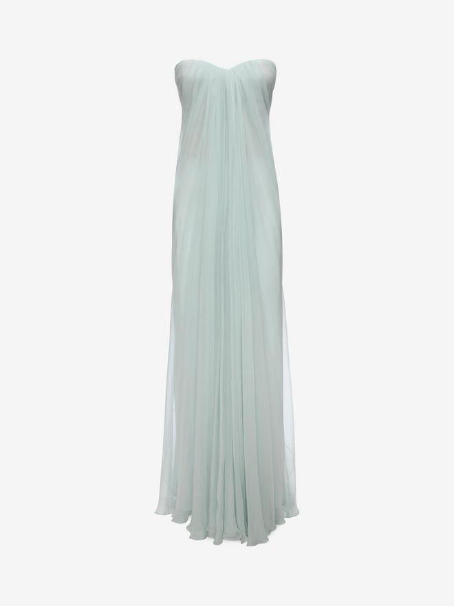 ALEXANDER MCQUEEN Draped Bustier Dress Long Dress D f