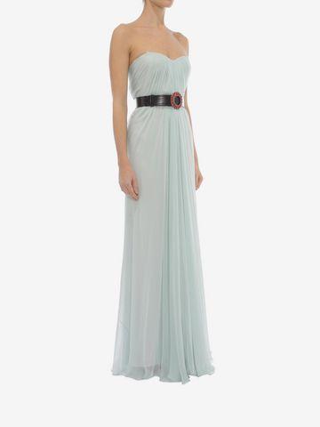 ALEXANDER MCQUEEN Draped Bustier Dress Long Dress D d