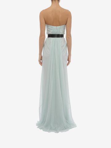 ALEXANDER MCQUEEN Draped Bustier Dress Long Dress D e