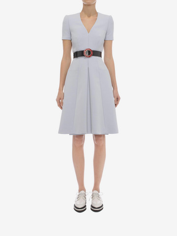 ALEXANDER MCQUEEN Box Pleat Dress Mini Dress D r