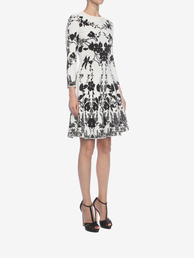ALEXANDER MCQUEEN Belle Epoque Jacquard Knit Dress Mini Dress Woman d