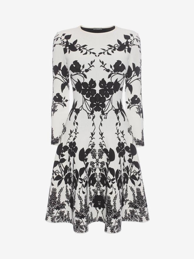 ALEXANDER MCQUEEN Belle Epoque Jacquard Knit Dress Mini Dress Woman f
