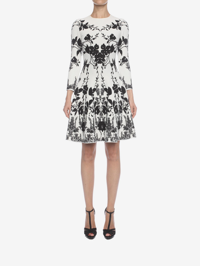 ALEXANDER MCQUEEN Belle Epoque Jacquard Knit Dress Mini Dress D r