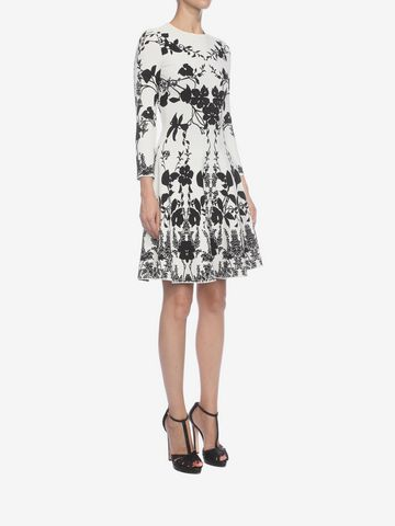 ALEXANDER MCQUEEN Belle Epoque Jacquard Knit Dress Mini Dress D d
