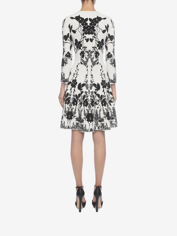 ALEXANDER MCQUEEN Belle Epoque Jacquard Knit Dress Mini Dress D e