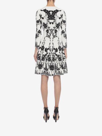 ALEXANDER MCQUEEN Belle Epoque Jacquard Knit Dress Mini Dress Woman e