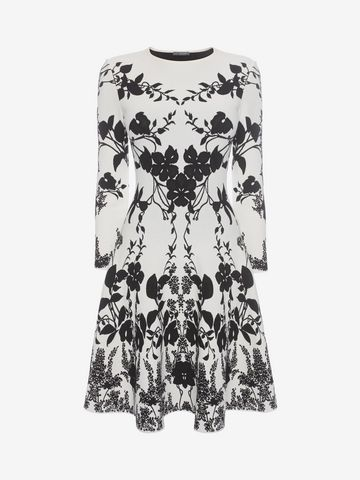 ALEXANDER MCQUEEN Belle Epoque Jacquard Knit Dress Mini Dress D f