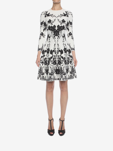 ALEXANDER MCQUEEN Belle Epoque Jacquard Knit Dress Mini Dress Woman r