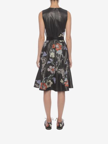 ALEXANDER MCQUEEN Leather Long Dress Long Dress D e
