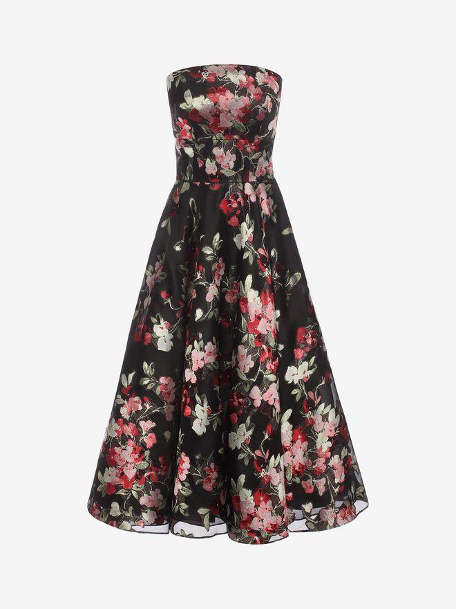 ALEXANDER MCQUEEN Fil Coupe Bustier Dress Mid-length Dress Woman f