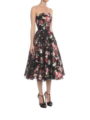 ALEXANDER MCQUEEN Fil Coupe Bustier Dress Mid-length Dress Woman d