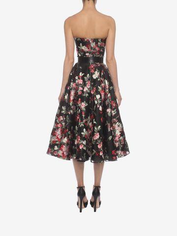 ALEXANDER MCQUEEN Fil Coupe Bustier Dress Mid-length Dress Woman e