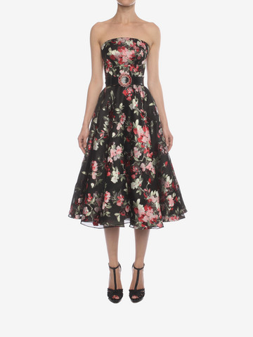 ALEXANDER MCQUEEN Fil Coupe Bustier Dress Mid-length Dress Woman r
