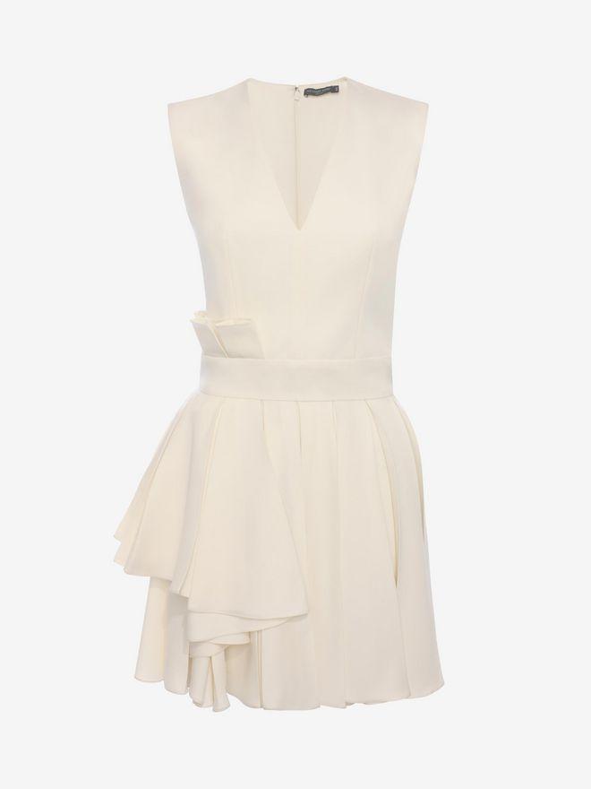 ALEXANDER MCQUEEN Fold Pleat Mini Dress Mini Dress D f