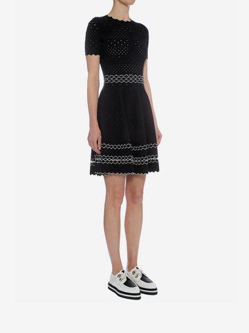 ALEXANDER MCQUEEN Full Circle Mini Dress Mini Dress D d