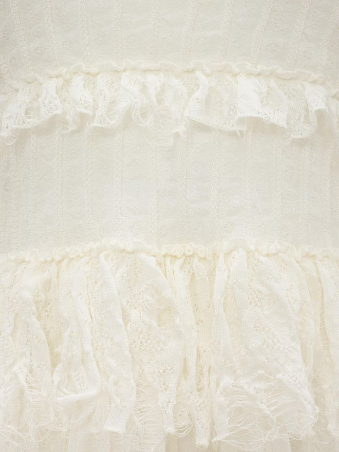 ALEXANDER MCQUEEN A-Line Ruffle Mini Dress Mini Dress D a