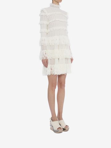 ALEXANDER MCQUEEN A-Line Ruffle Mini Dress Mini Dress D d