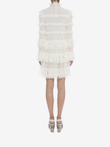ALEXANDER MCQUEEN A-Line Ruffle Mini Dress Mini Dress D e