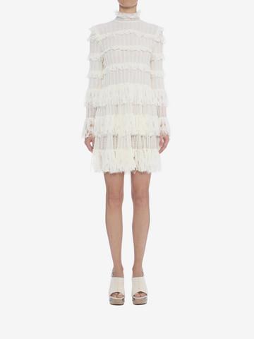 ALEXANDER MCQUEEN A-Line Ruffle Mini Dress Mini Dress D r