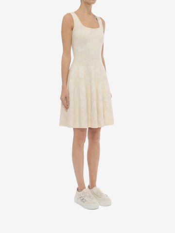 ALEXANDER MCQUEEN Sleeveless Corset Neck Dress Mid-length Dress D d