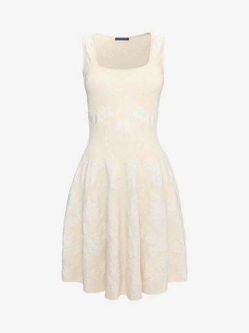 ALEXANDER MCQUEEN Sleeveless Corset Neck Dress Mid-length Dress D f