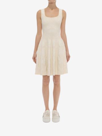 ALEXANDER MCQUEEN Sleeveless Corset Neck Dress Mid-length Dress D r