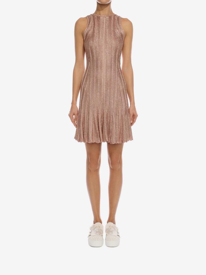 ALEXANDER MCQUEEN Sleeveless Flute Mini Dress  Mini Dress D r
