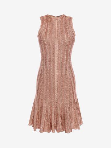 ALEXANDER MCQUEEN Sleeveless Flute Mini Dress  Mini Dress D f