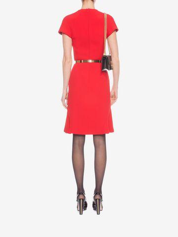 ALEXANDER MCQUEEN Cap Sleeve Flared Dress Mid-length Dress D e