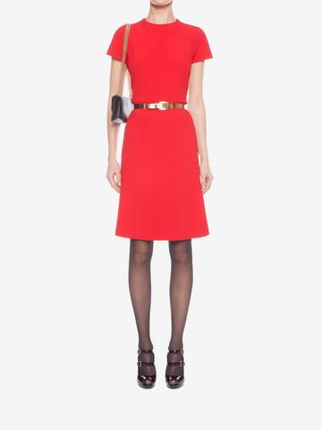 ALEXANDER MCQUEEN Cap Sleeve Flared Dress Mid-length Dress D r