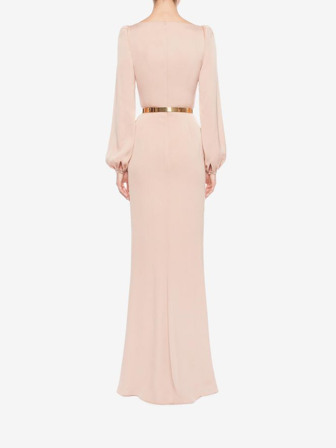 ALEXANDER MCQUEEN Long Wrap Dress Long Dress D e