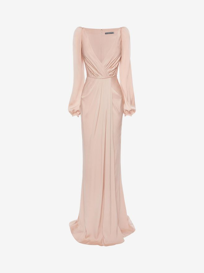 ALEXANDER MCQUEEN Long Wrap Dress Long Dress D f