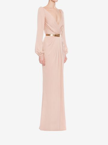 ALEXANDER MCQUEEN Long Wrap Dress Long Dress D d